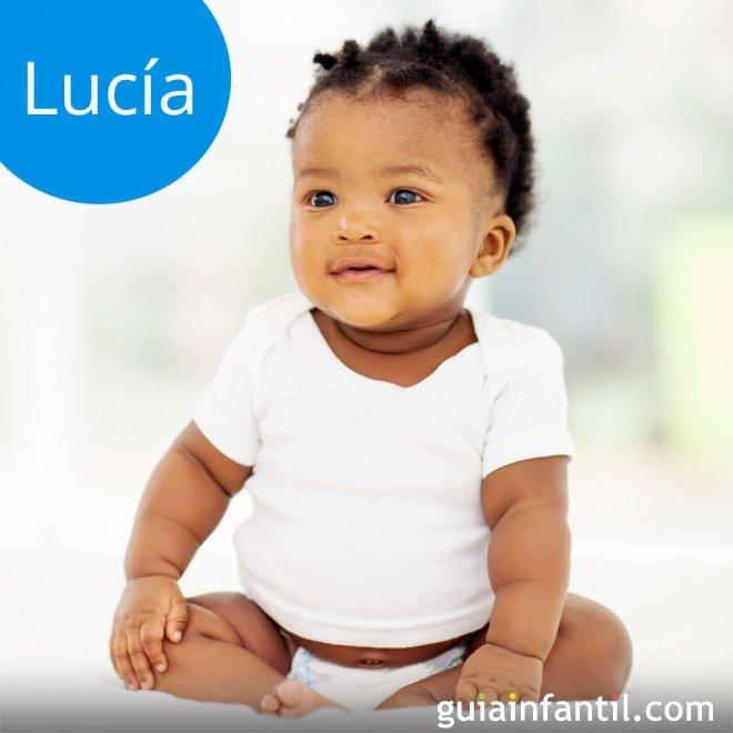 El nombre de Lucía es una de los más populares actualmente, además ...