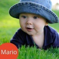 Los nombres de niños más populares. Mario