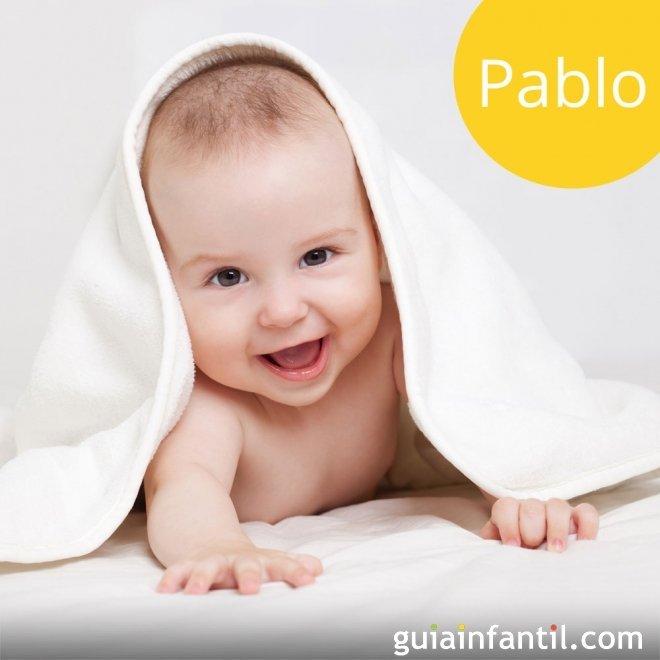 Los nombres de niños más populares. Pablo