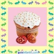 Muffins de Pascua decorados. Muffin con nata