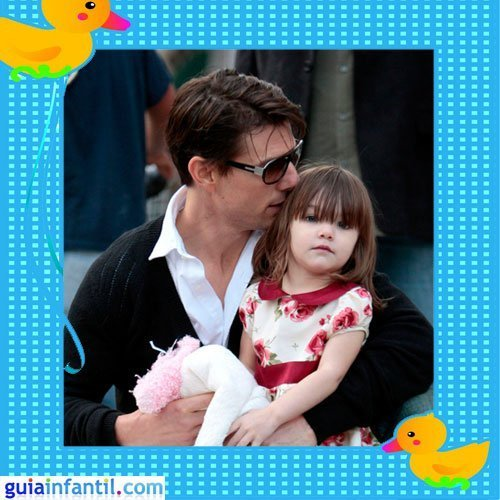 El actor Tom Cruise con su hija Suri