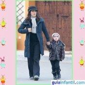 La actriz Salma Hayek y su hija Valentina visten igual en invierno