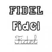 Dibujo del nombre Fidel para colorear