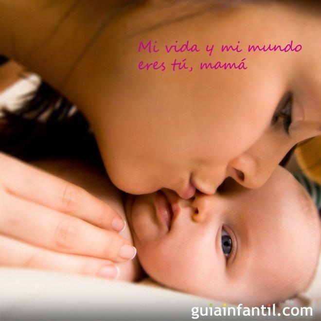 celebración con frases de amor para que regalen los niños a su mamá