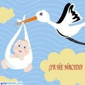 Postal para anunciar un nacimiento