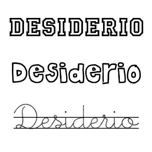 Desiderio. Dibujos de nombres para niños