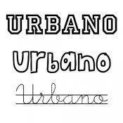 Dibujo para colorear del nombre Urbano