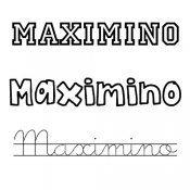 Dibujo del nombre Maximino para colorear