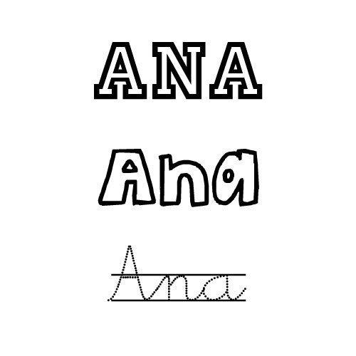 Ana para colorear e imprimir dibujos de nombres nombres - Nombres de ninos para colorear ...