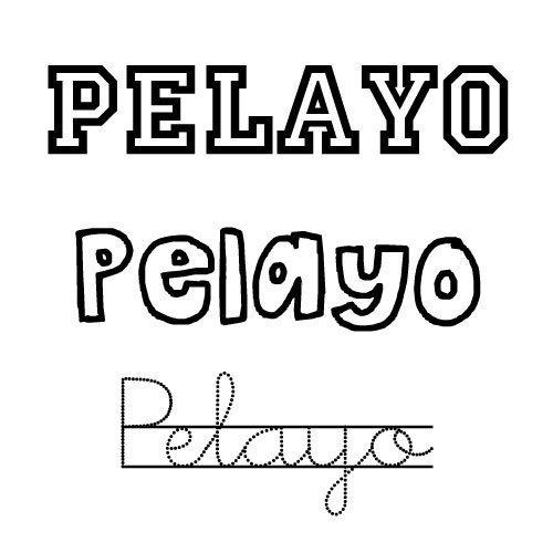 Dibujo del nombre Pelayo para imprimir