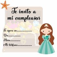 Invitaciones de cumpleaños con princesas de cuento