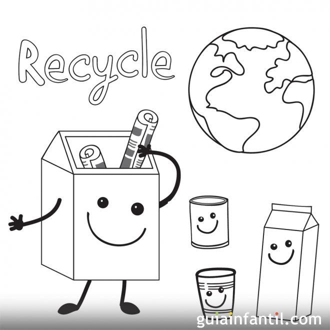 Dibujos De Reciclaje Para Ninos
