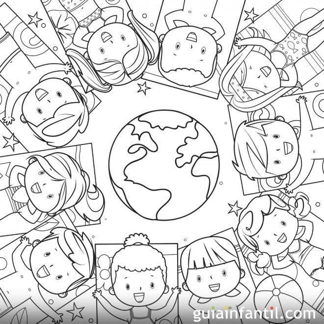 Dibujos para pintar sobre los niños y el cuidado del planeta ...
