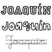 Dibujo del nombre Joaquín para pintar e imprimir