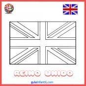 Dibujo de la bandera del Reino Unido para imprimir y pintar