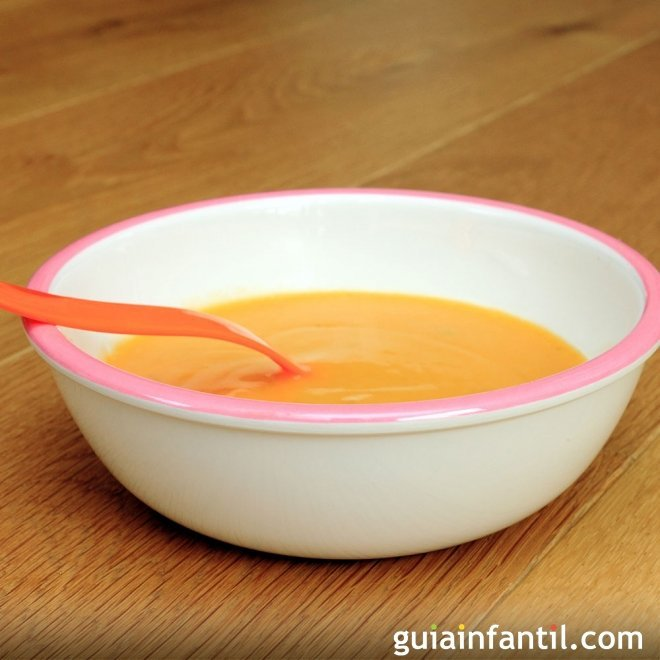 Puré o crema de ternera con verduras para bebés
