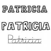 Dibujo del nombre Patricia para imprimir y pintar