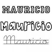 Nombre Mauricio para pintar e imprimir