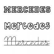 Dibujo para colorear del nombre Mercedes