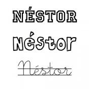 Dibujo del nombre Néstor para colorear