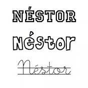 Dibujo del nombre Néstor para colorear
