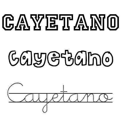 Dibujos para colorear del nombre Cayetano