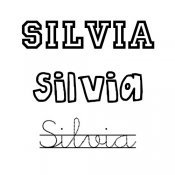 Dibujo para colorear del nombre Silvia