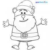 Dibujo de oso Traposo disfrazado de Papá Noel
