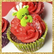 Cupcake de Navidad con forma de reno