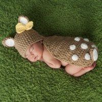 Disfraz de ciervo hecho de punto para bebés
