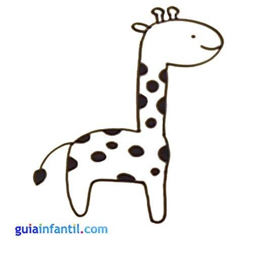 Jirafa para dibujar con niños. Animales de la granja para imprimir