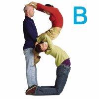 Juega a hacer la letra B con los niños