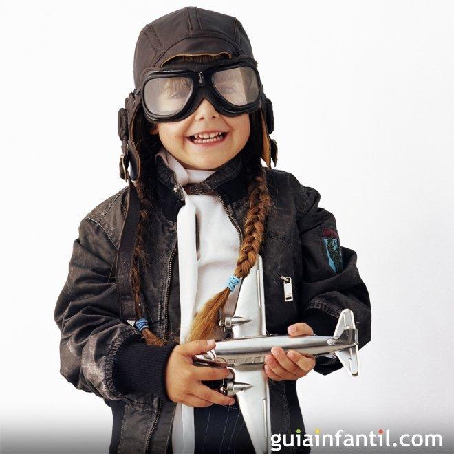 Disfraz de aviadora para niñas