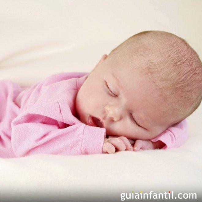 Foto del bebé durmiendo