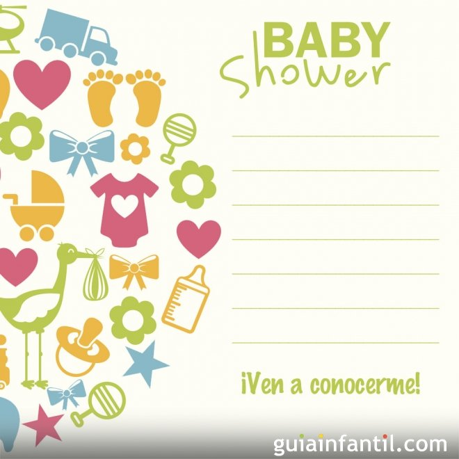 de baby shower 10 invitaciones para la baby shower del beb