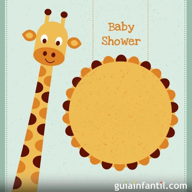 Invitación de jirafa para una Baby Shower