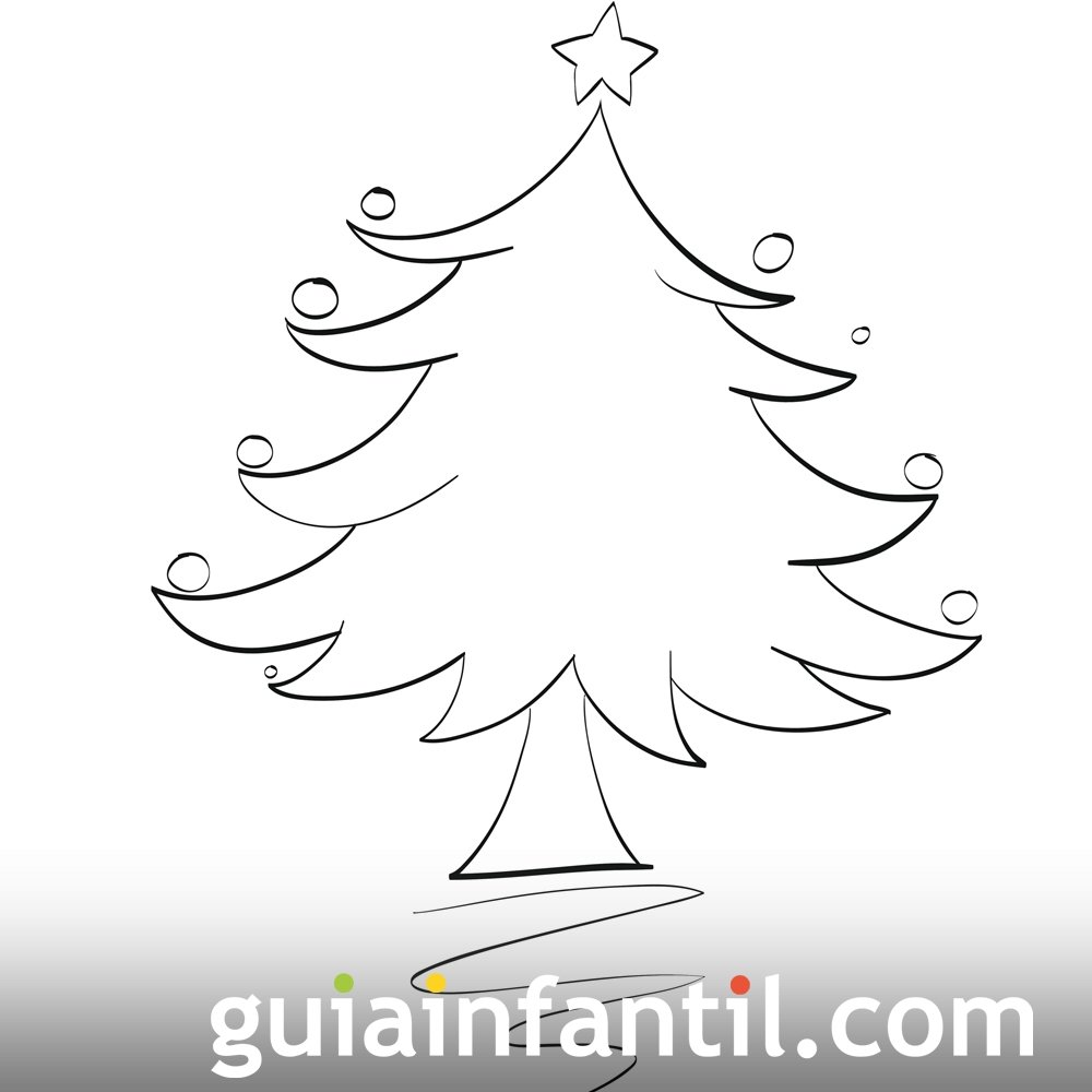 Free coloring pages of arbol frondoso - Arbol de navidad para colorear ...