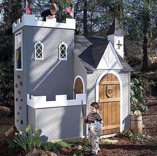 Casita castillo para jugar en el jard n casitas de lujo for Casa jardin ninos