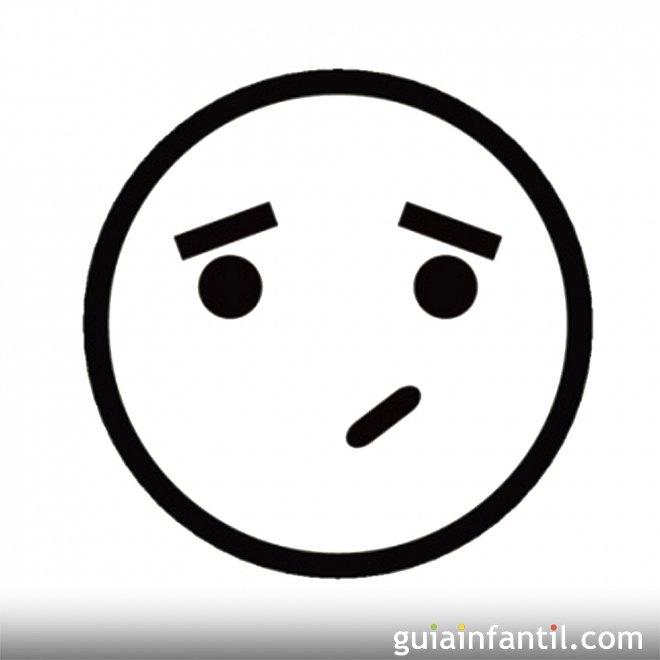 Dibujo de una cara con duda para colorear - Dibujos de caras de ...