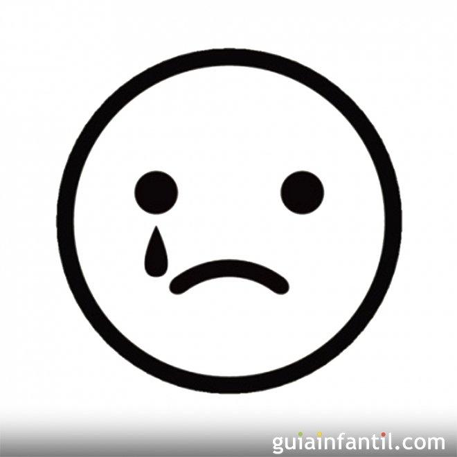 Dibujo de una cara de dolor para colorear - Dibujos de caras de ...