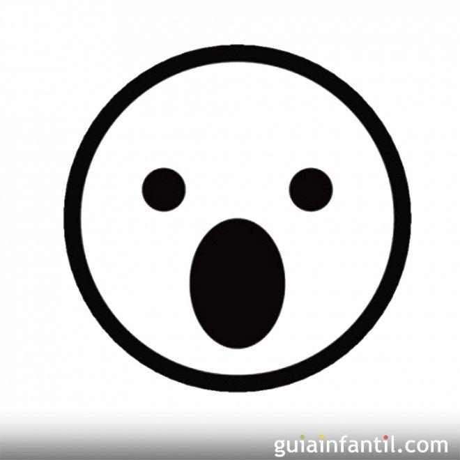 Dibujo de una cara asustada para pintar - Dibujos de caras de ...