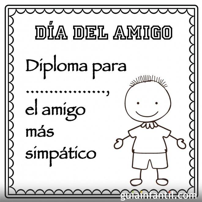 Snap Un diploma al mejor amigo Imagenes con frases de amistad ...