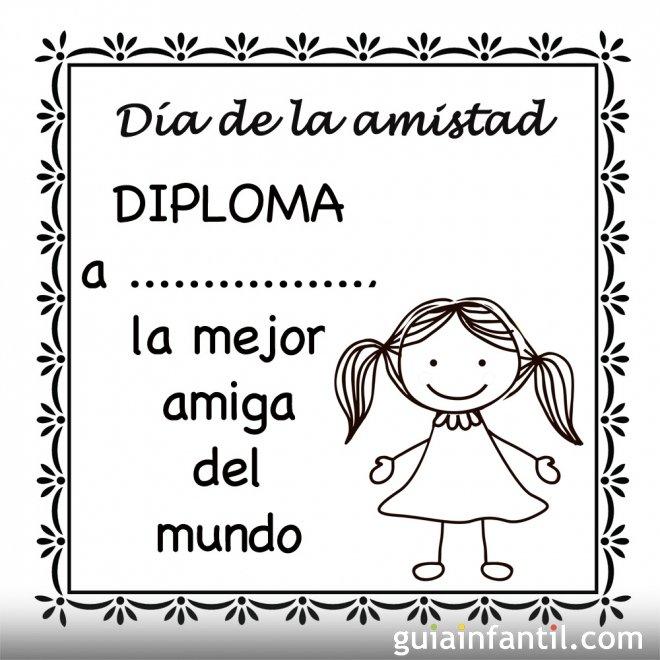Diploma Al Mejor Amigo