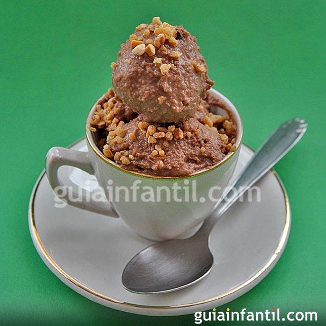 Cómo hacer un helado de Nocilla o Nutella