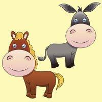 El caballo y el asno. Fábula sobre la solidaridad