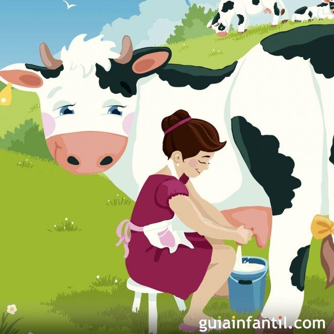 La lechera. Fábula tradicional para niños
