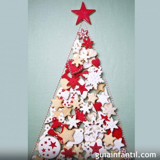 Rbol de navidad con galletas decoradas para ni os for Arbol navidad infantil