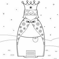 Dibujo del Rey Melchor para colorear con los niños