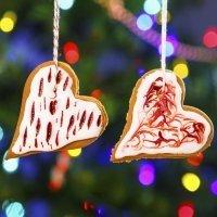Receta navidela de corazones de galleta decorados