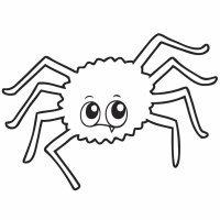 Dibujo de una araña para colorear en Halloween
